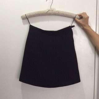 Wangko Collection Black High Waist Mini Skirt