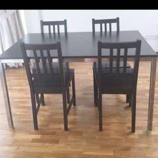 Ikea 4 Seater Dining Table Set