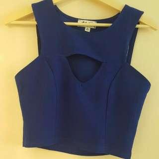 Blue Size 10 Crop Top