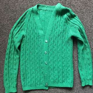 Green Knitted Cardi