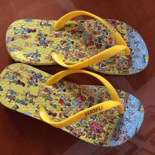 Sendal Jepit Where's Wally Sleepers Sandals