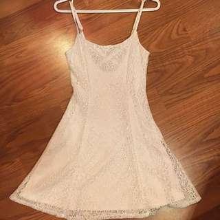White Crotchet Dress (XS)