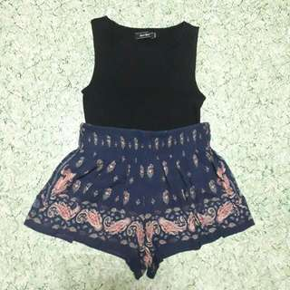 Bundle 4: 6ixty 8ight Crop Top & Paisley Flowy Shorts