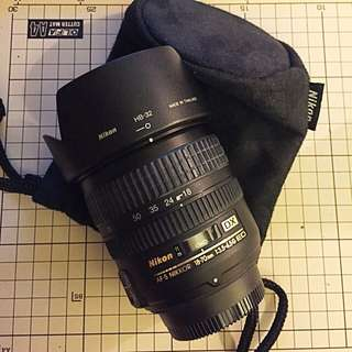 Nikon 18-70mm 鏡頭有彩盒