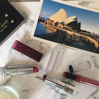 Maybelline And Revlon Lipsticks