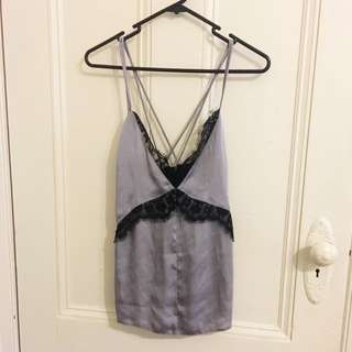 Satine Singlet Top With Lace