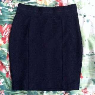 H&M Bodycon Ribbed Mini Skirt