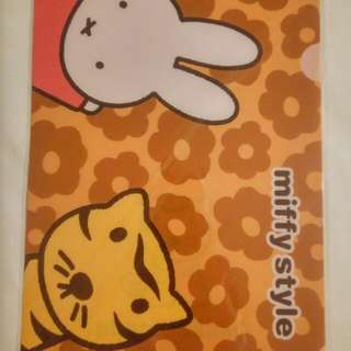 Limited edition Miffy's A4 folder, Umeda Osaka series