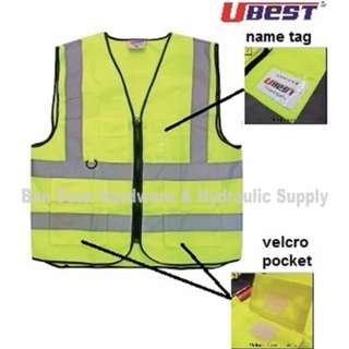 Safety Vest with Reflective, Pocket, Key Ring & ID Tag