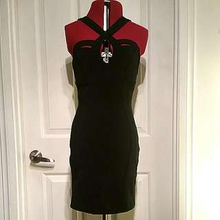 Blossom Size 8 Black Bodycon Dress
