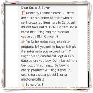 Be careful buying products.