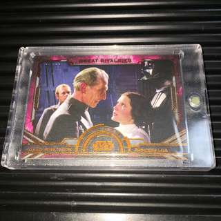 Topps /99 Limited Worldwide Grand Moff Tarkin vs Princess Leia Masterwork 2016 Canvas Parallel Rare