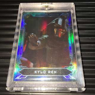 Topps /299 Limited Worldwide Kylo Ren Masterwork 2016 Show of Force Rainbow Foil Parallel Rare
