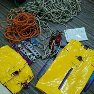 Rope work, Hauling safe, climbing gears