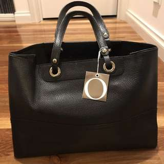 Oroton Black Entourage Tote