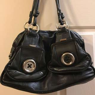 Mimco Large Button Bag Black