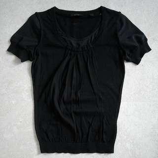 🚚 Brand New Esprit Gathered Neckline Chiffon Sleeves Blouse In Black