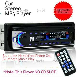 Car MP3 Stereo Player Bluetooth Function With Remote Control (12V Use)(BNIB)