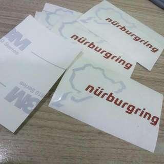 Nurburgring Car Sticker 3M