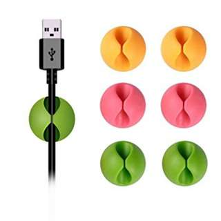 Cable Clips Klip Kabel Alat Perapi Multifungsi Serbaguna Murah Rumah Tangga Office Stationery Pengikat Perekat Cable Charger Handphone
