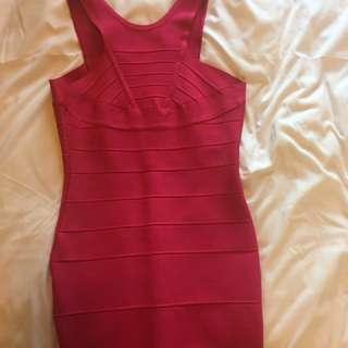Bandage Pink Dress