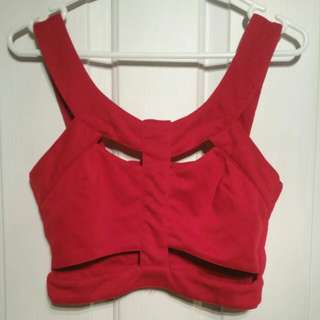 Ice Red Crop Top Size Small