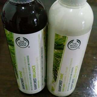 The Body Shop Rainforest Shine Shampoo and Conditional~ 250ml