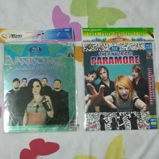 Paramore & Evanescence Concert DVDs