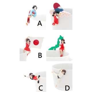 扭蛋 杯緣子 日本篇 藝妓 國旗 祭典 跆拳道 出初 藝伎 轉蛋 盒玩