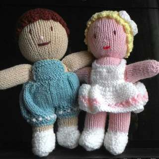 Hand Knitted Dolls
