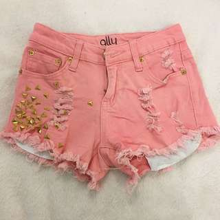 Ally Studded Ripped Short