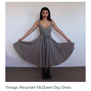 Vintage Alexander McQueen Day Dress