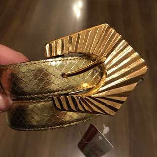 YSL YvesSaintLaurent Belt Gold Ladies