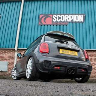 Scorpion none resonated cat back system for Mini Cooper S(F56)