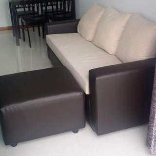 3 Seater Sofa With One Leg Rest