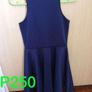 Royal Blue A Line Dress