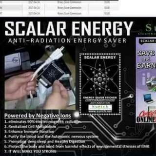 scalar energy saver sticker