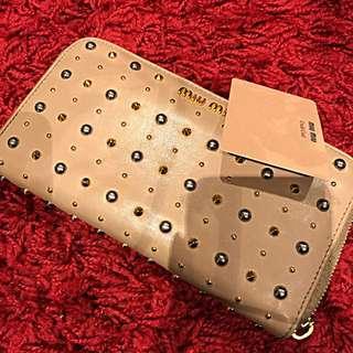 Miumiu Wallet (dust Pink) Authentic