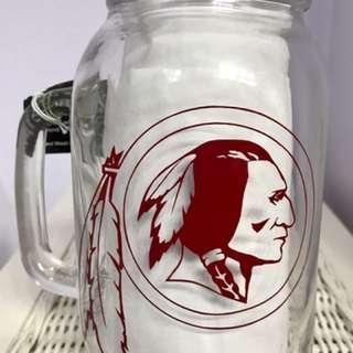 """Washington Redskins"" Mason Jar Beer Mug"
