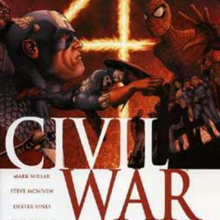 CIVIL WAR: A MARVEL COMICS EVENT IN SEVEN PARTS AUTHOR: Mark Millar PENCILS: Steven McNiven INKS: Dexter Vines COLORES: Morry Hollowell LETTERING: Chris Eliopoulos PUBLISHER: Marvel Comics GENRE: Superhero Issues: 1 to 7 (complete set)
