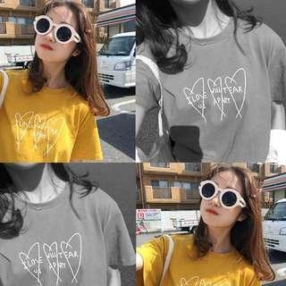 全新 韓妞 姜黃色 上衣