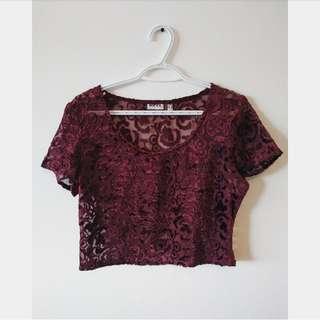 MEXX Velvet Cropped Top