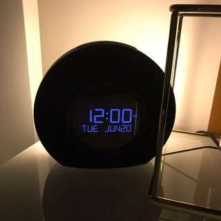 Digital Clock Radio With Bed Light