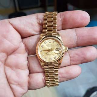 Rolex Ladies Solid Gold Diamond Dial