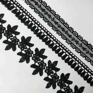 Black Lace Chokers - Customized Sizes