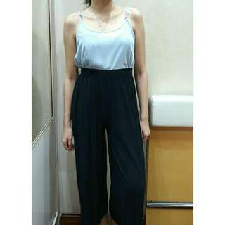 Navy blue Culottes Trousers