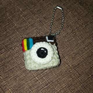 Handmade Instagram Keychain IG 鎖匙扣  手作 織物 編織