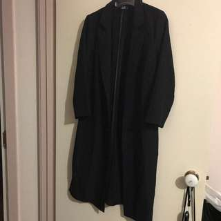Dotti Black Duster Long Coat