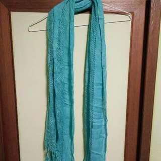 湖水綠薄圍巾