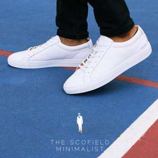 🚚 Scofield Minimalist Leather Sneakers White Shoes